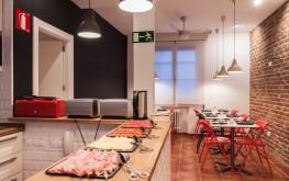 Comedor de Woohoo Hostal Madrid